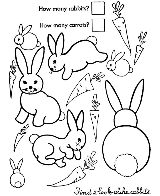 Easter Worksheet Activity Page