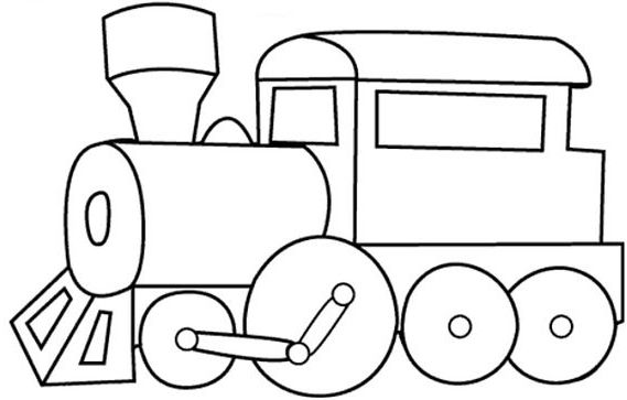 Easy Coloring Page Train