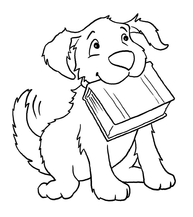 Easy Coloring Pages Dog 001