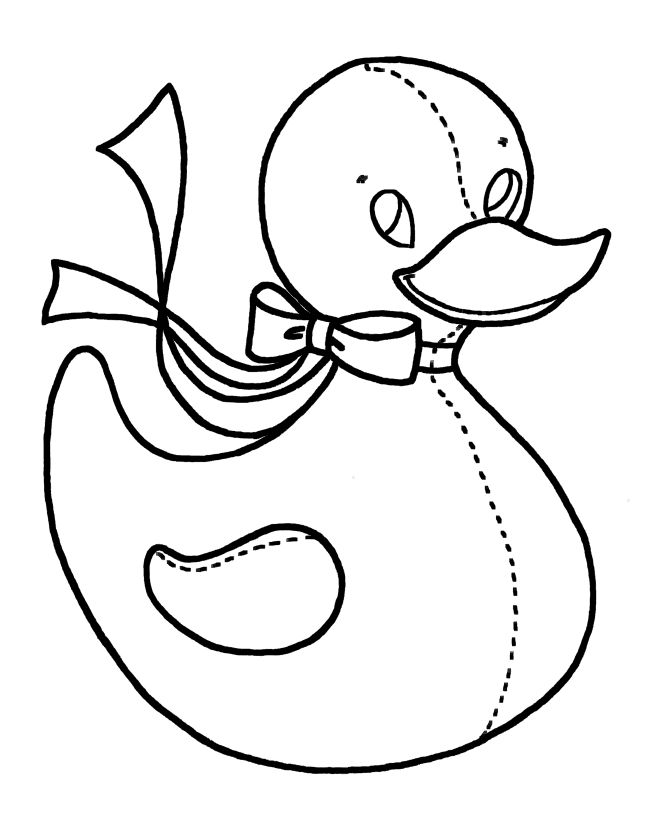 Easy Coloring Pages Duckie 001