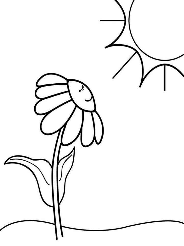 Easy Coloring Pages Flower 1