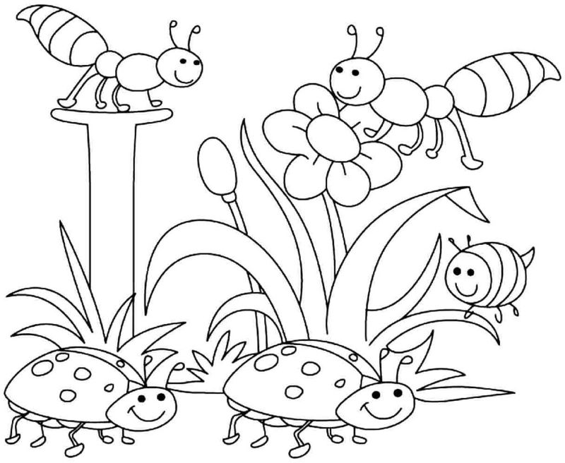 Easy Coloring Pages Of Spring