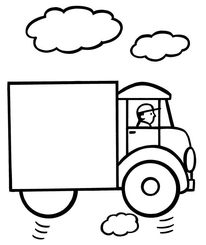 Easy Coloring Pages Truck 001