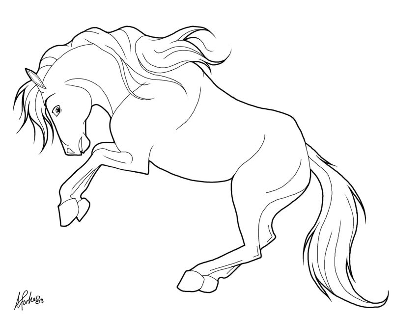Easy Horse Coloring Pages | FREE COLORING PAGES