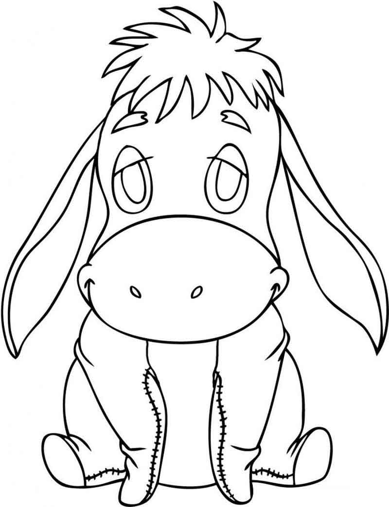 Eeyore Coloring Pages For Kids (1)