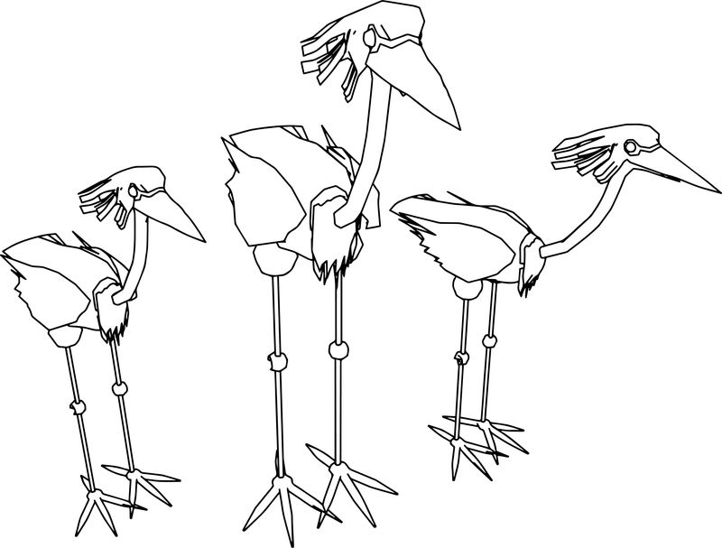 Egret Animal Coloring Page