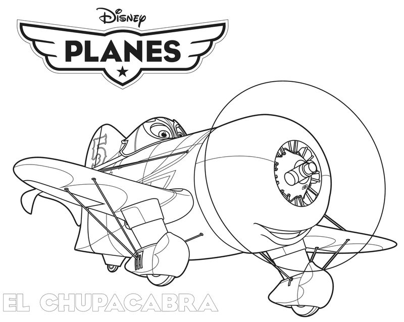 El Chupacabra Planes Coloring Pages