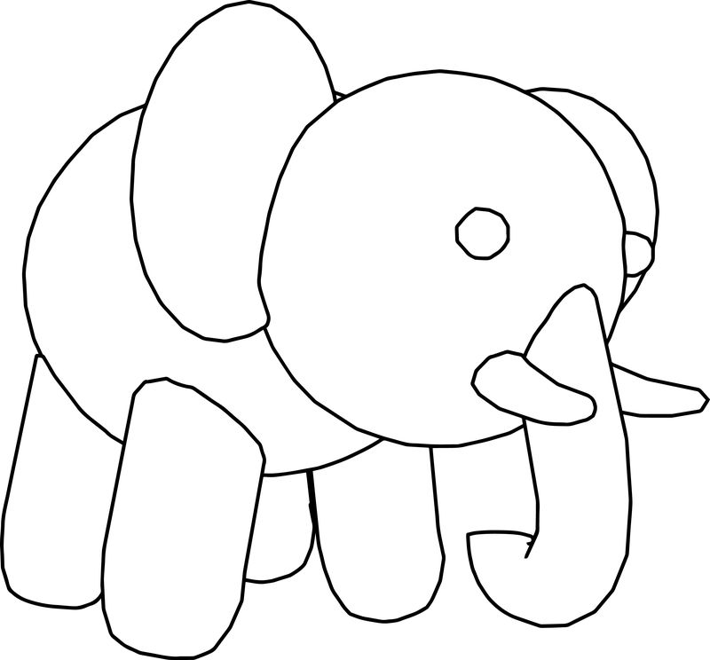 Elephant Best Good Cuttle Pretty Coloring Sheet Page Free