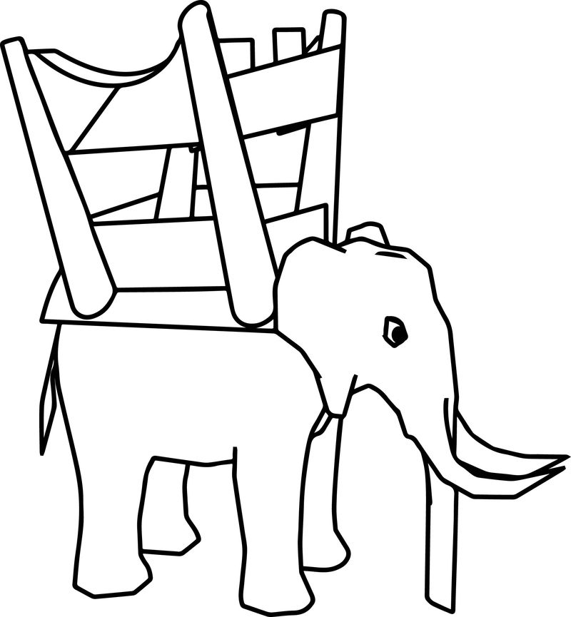Elephant Chair Coloring Page