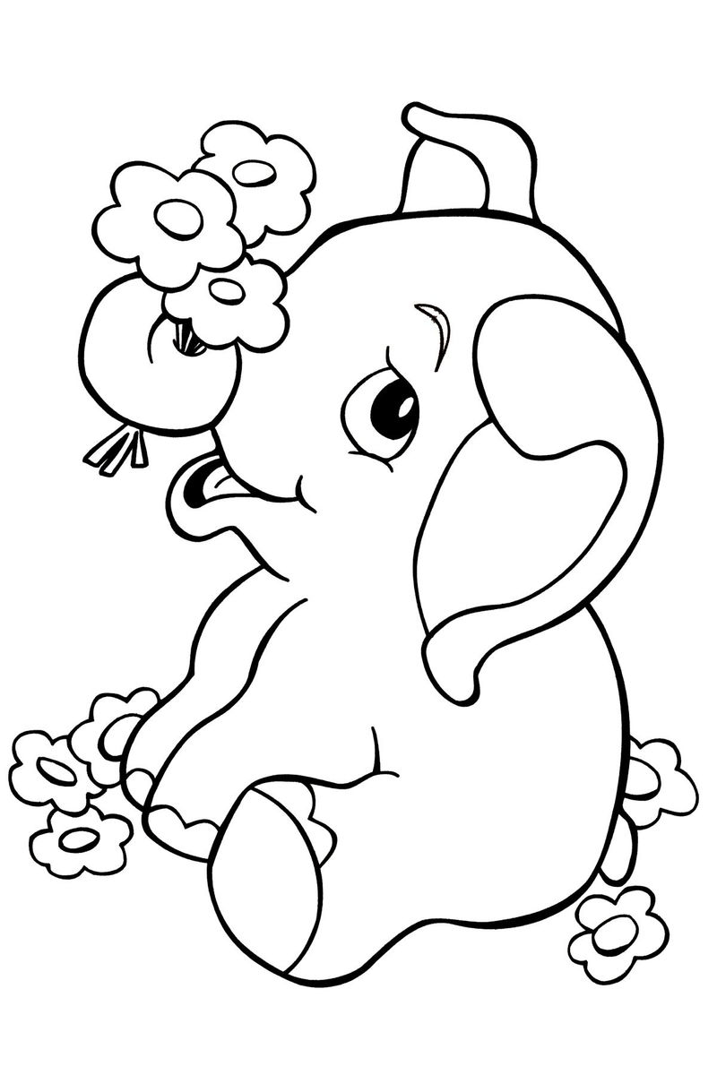 Elephant Jungle Coloring Pages