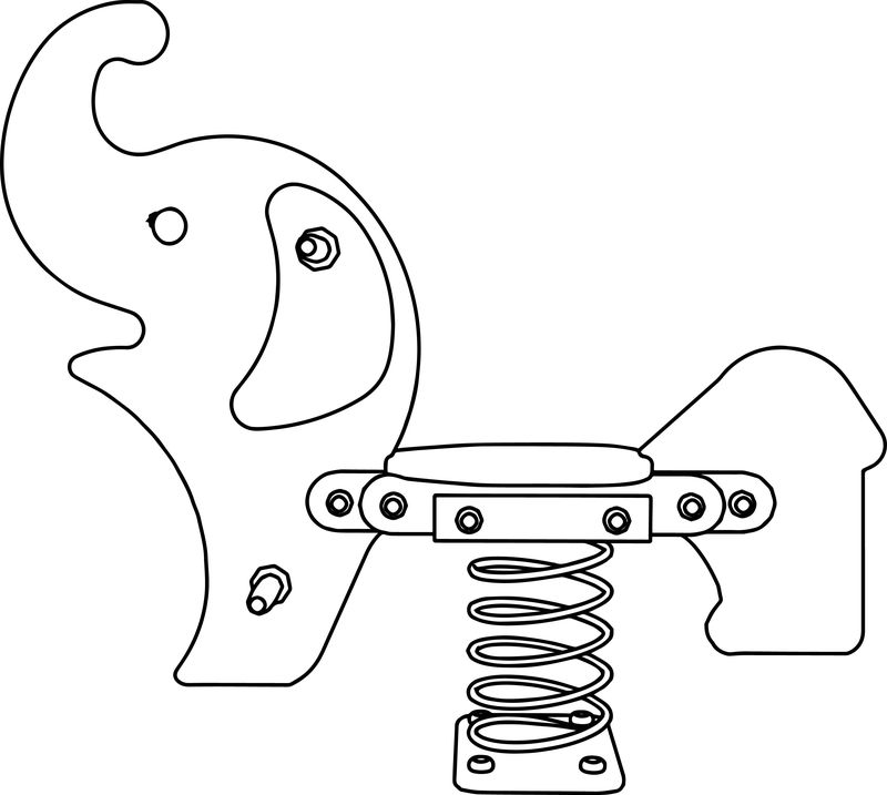 Elephant Springer Coloring Page