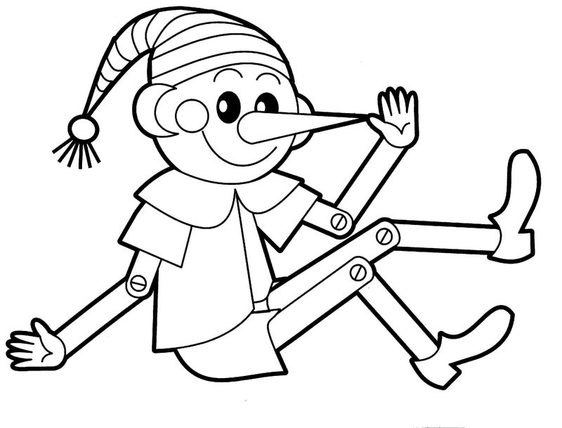 Elf Toy Coloring Page 001
