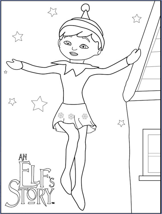 Elfs Story Coloring Book