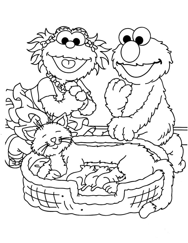 Elmo Sesame Street Coloring Pages