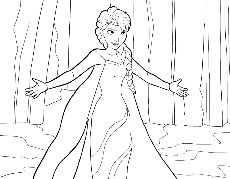 Elsa Coloring Pages 01