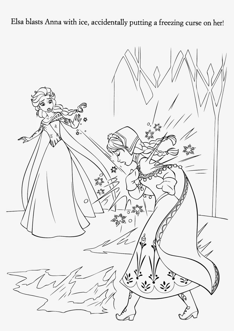 Elsa disney frozen printable coloring page