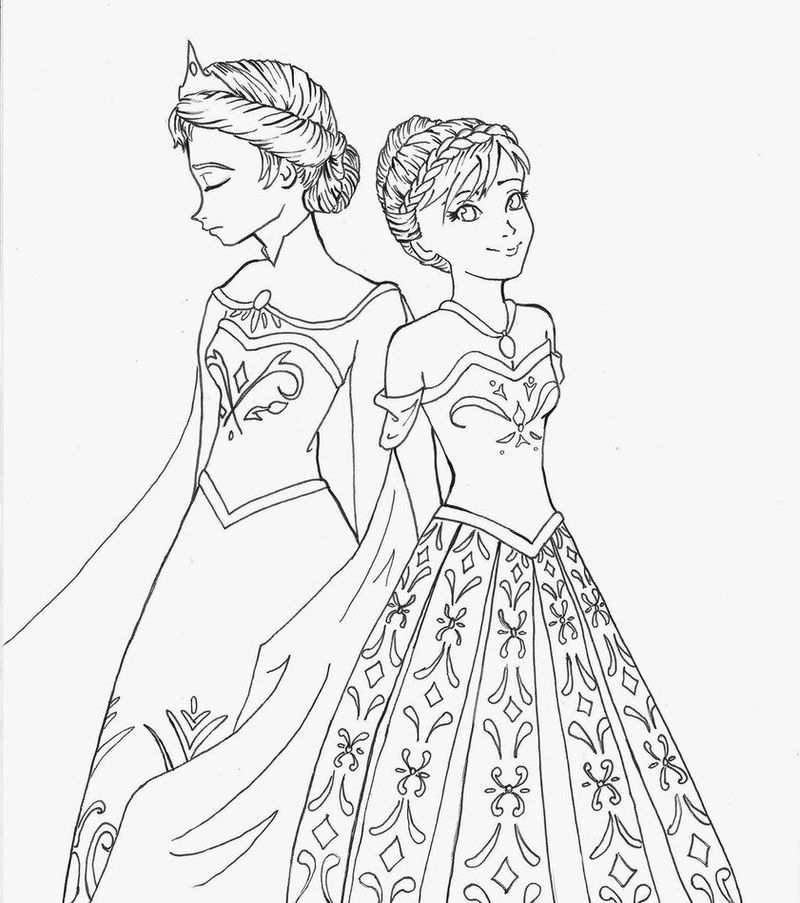 Elsa Frozen Drawing To Color