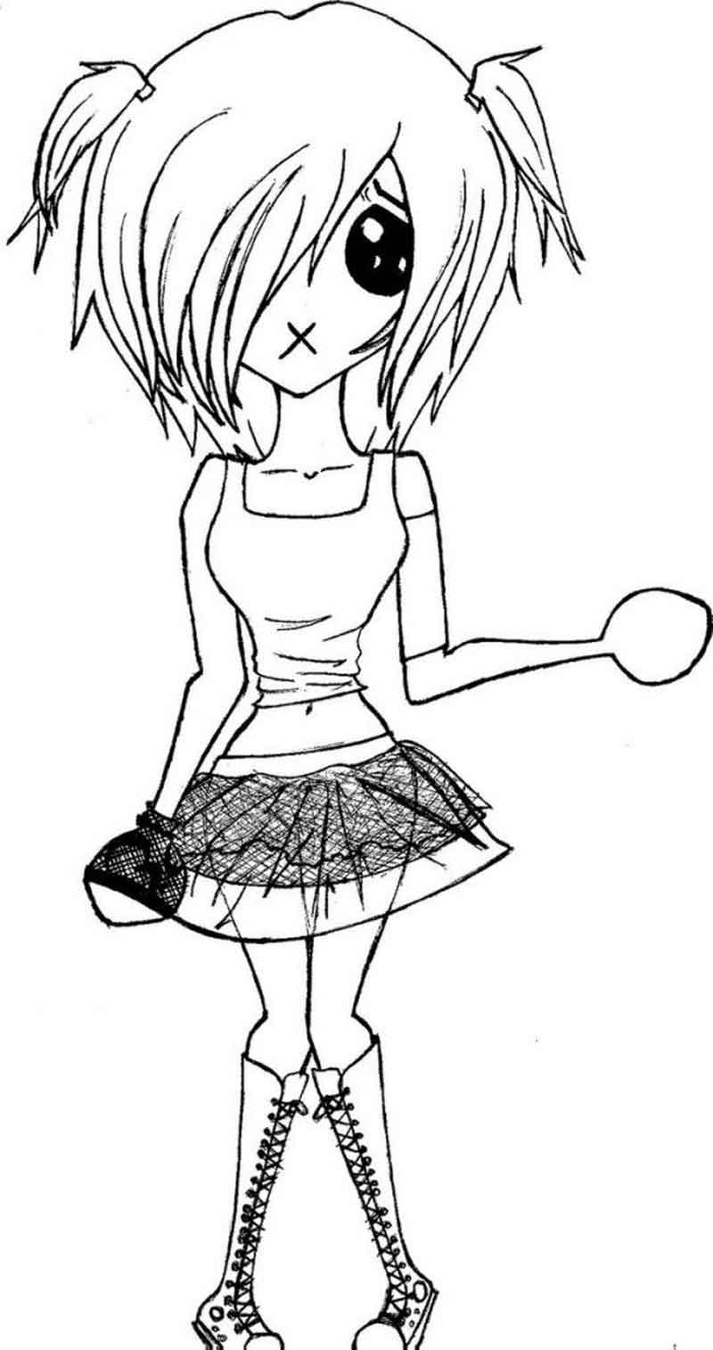 Emo Coloring Pages For Kids