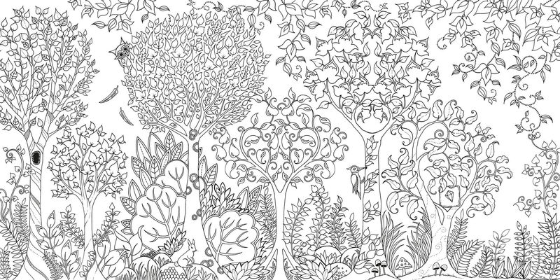 Enchanted Forest Coloring Pages Printable
