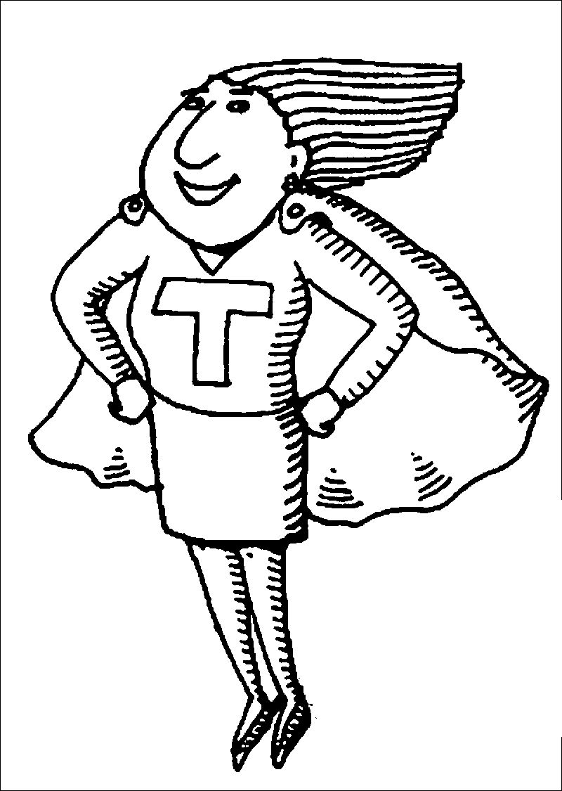 English Super Teacher Coloring Page