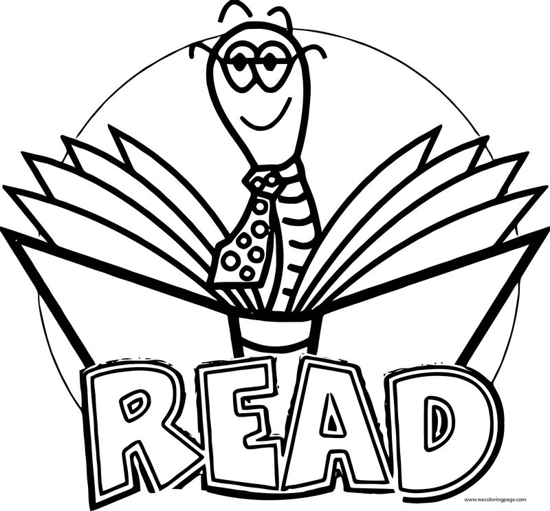 English Teacher Read Coloring Page