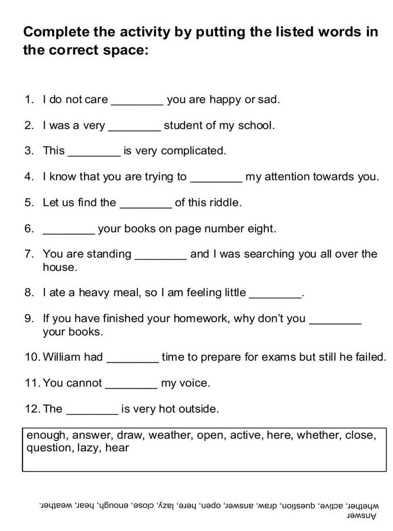 English Worksheets For Kids Beginners 001