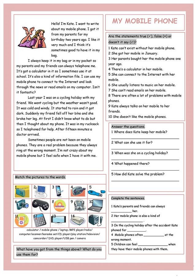 English Worksheets For Teens
