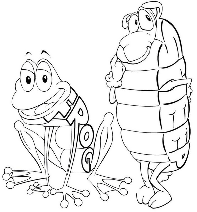 Epic Frog And Sheep Wordworld Coloring Page