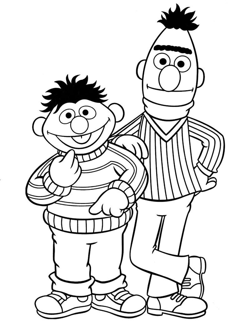 Ernie And Bert Sesame Street Coloring Pages