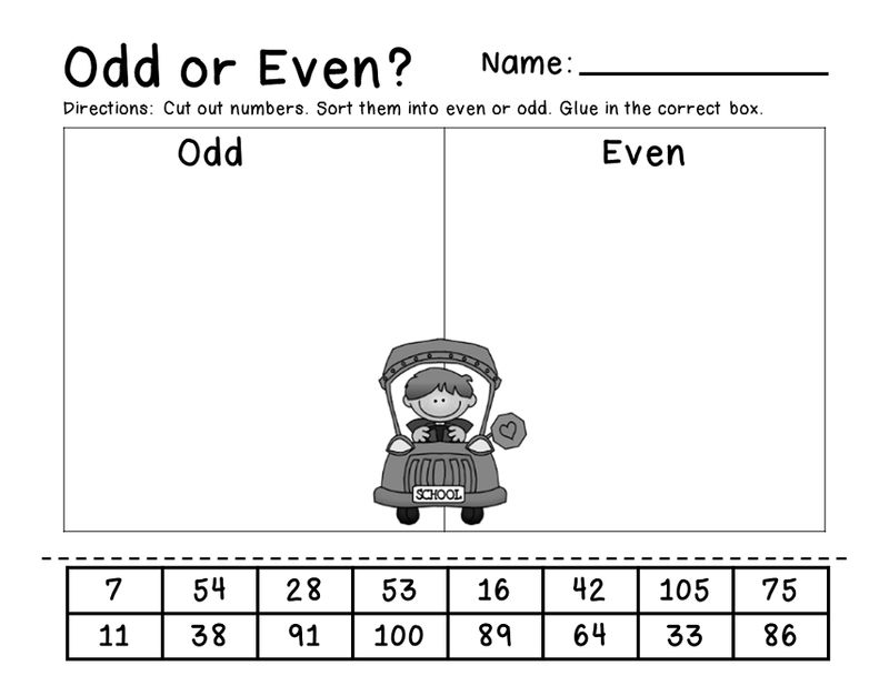 Even And Odd Number Worksheets Printable