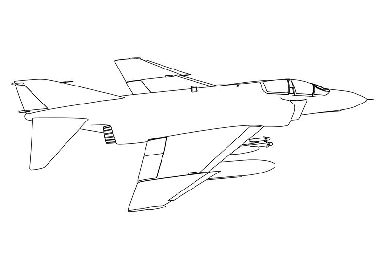 F 4 Phantom Coloring Page
