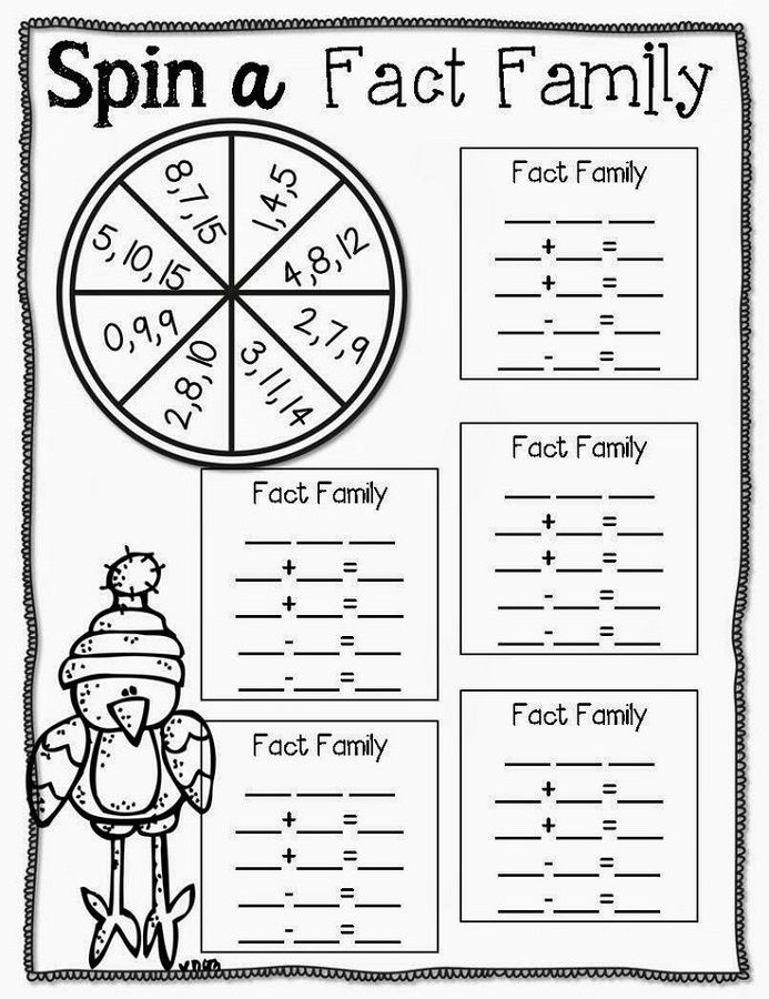 Fact Family Practice Worksheet