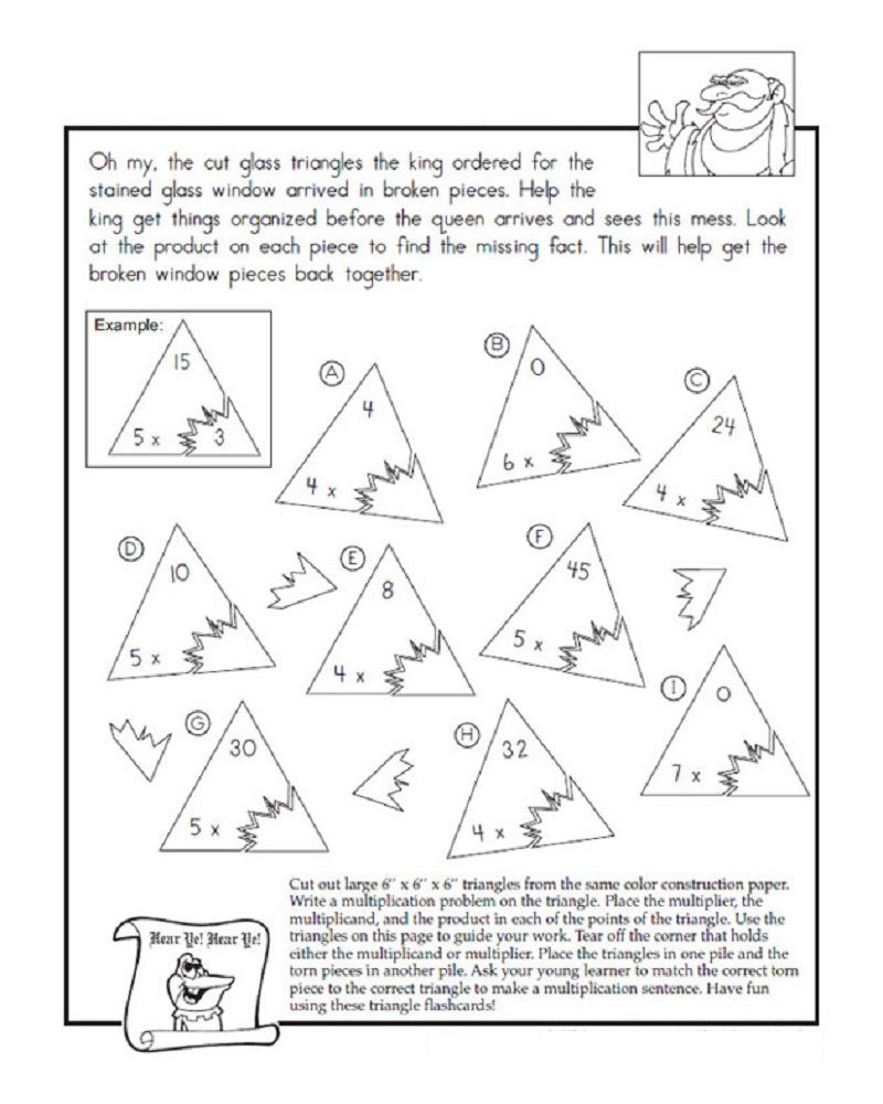 Fact Triangles Worksheets Printable
