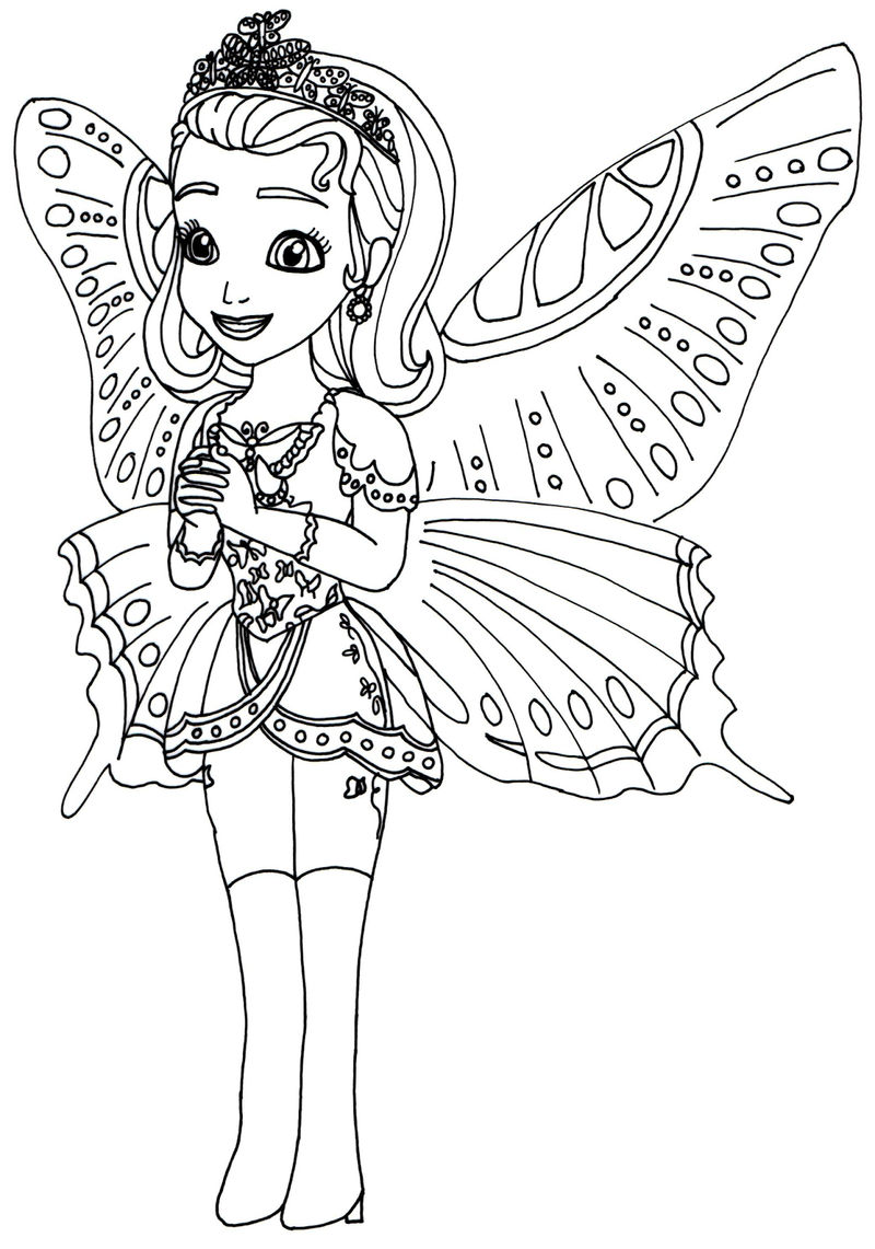 Fairy Sofia The First Coloring Pages 001