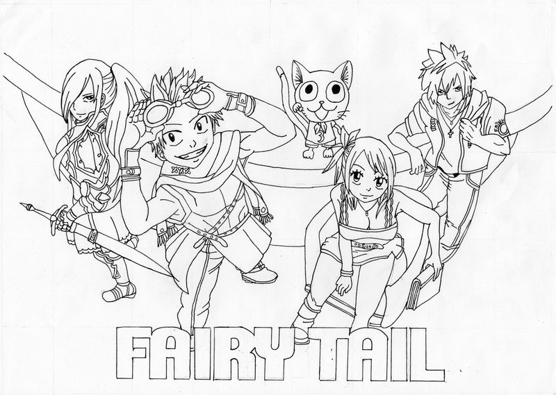 Fairy Tail Color Pages Simple