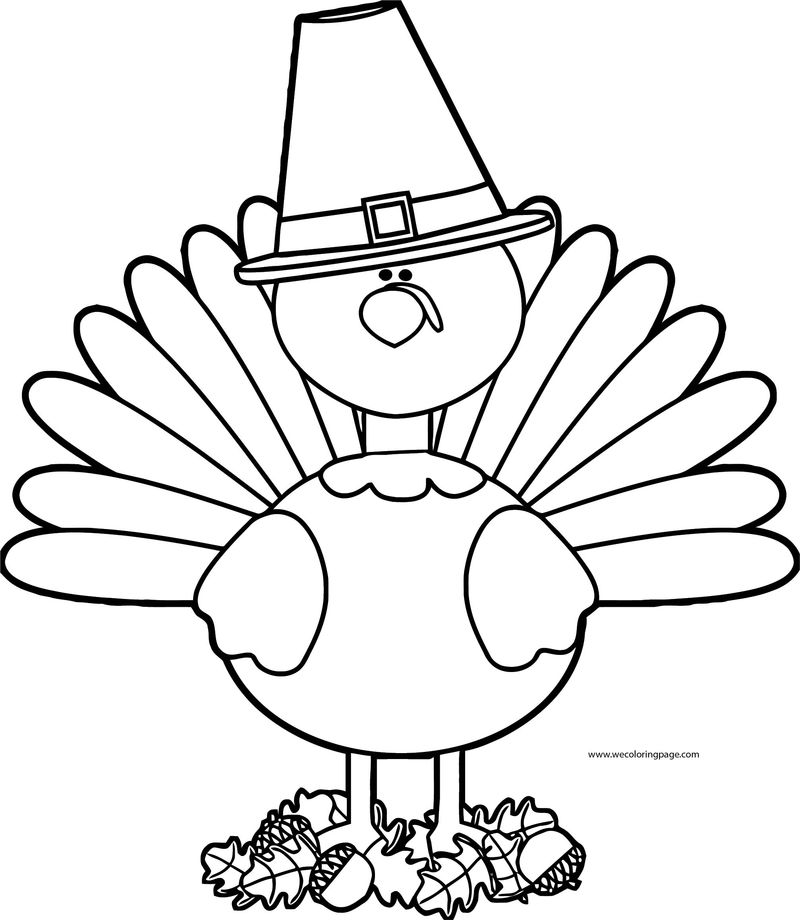 Fall Animal Cock Coloring Page
