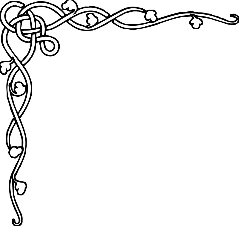 Fall Border Autumn Coloring Page