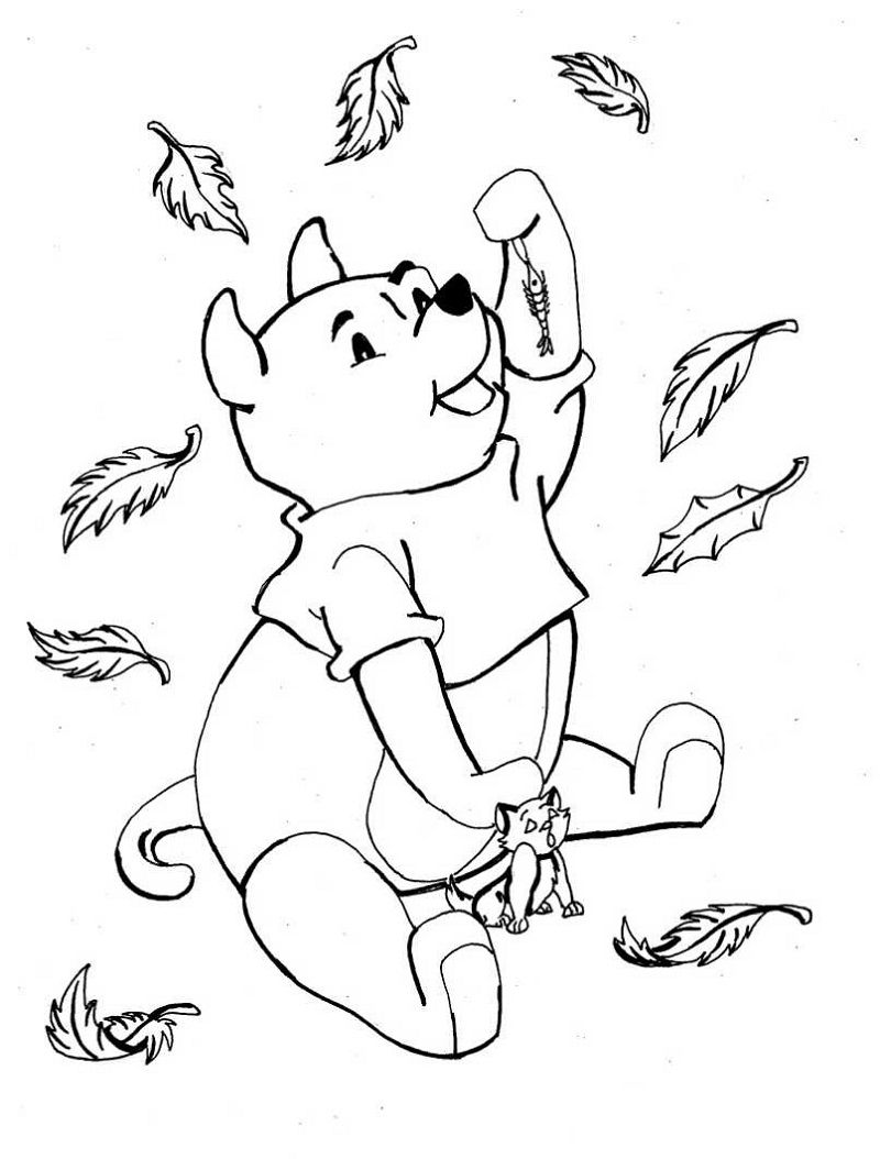 Fall coloring printable 001