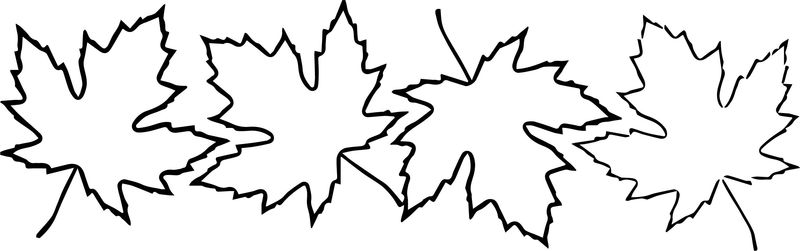 Fall Leaves Autumn Leaves Coloring Page