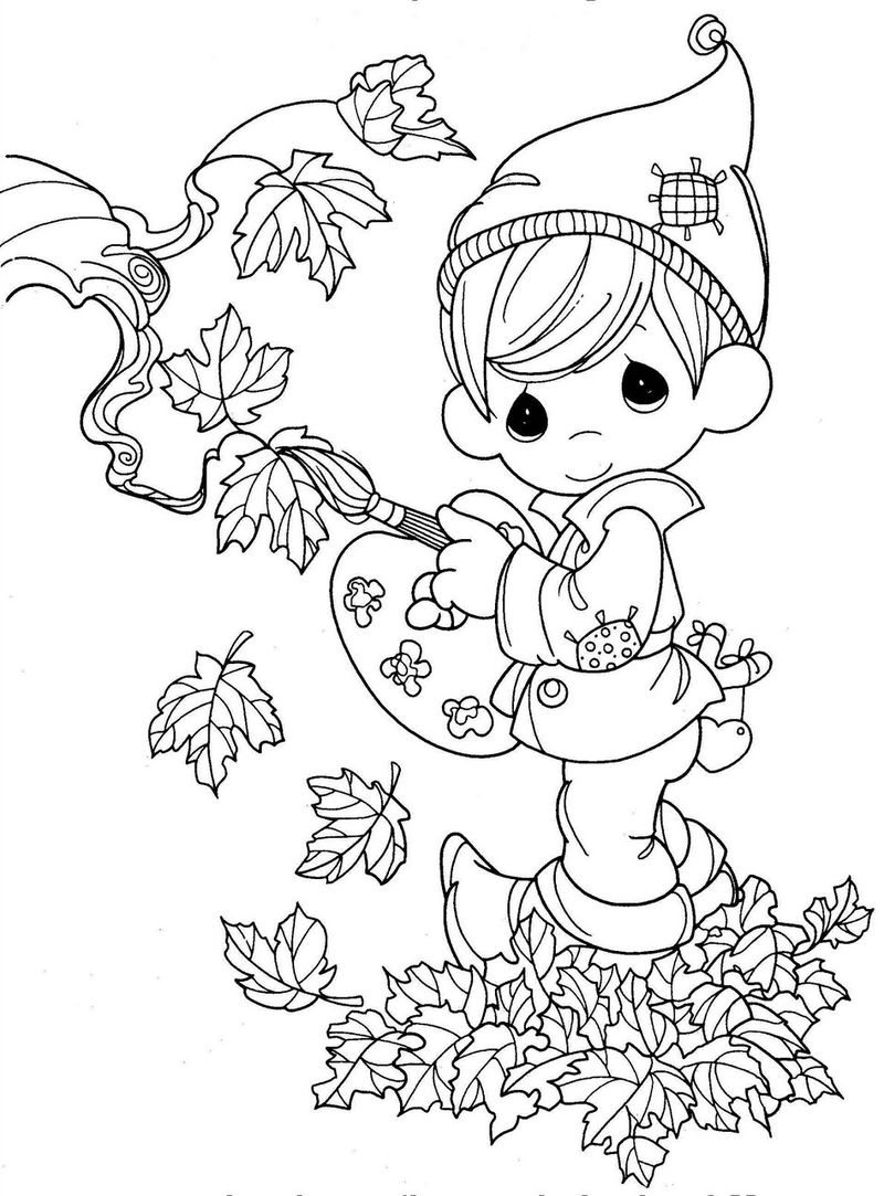 Fall Pictures To Color Printable 001