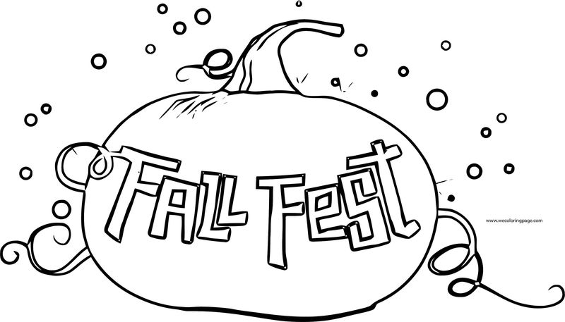Fall Test Coloring Page
