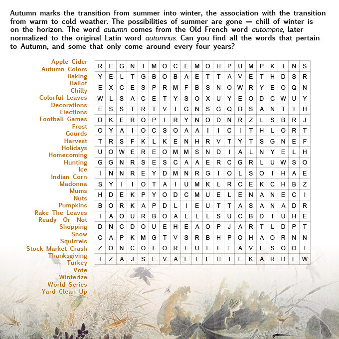Fall Word Search 3 001