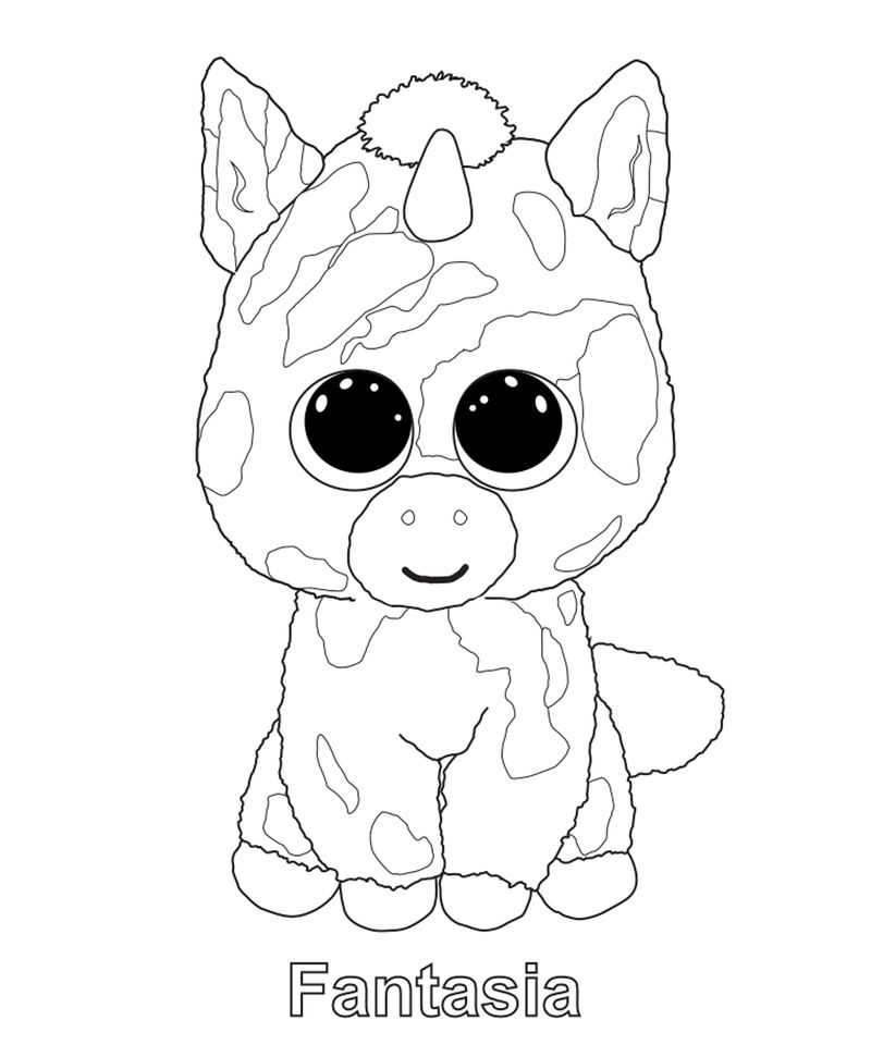 Fantasia Beanie Boo Coloring Pages