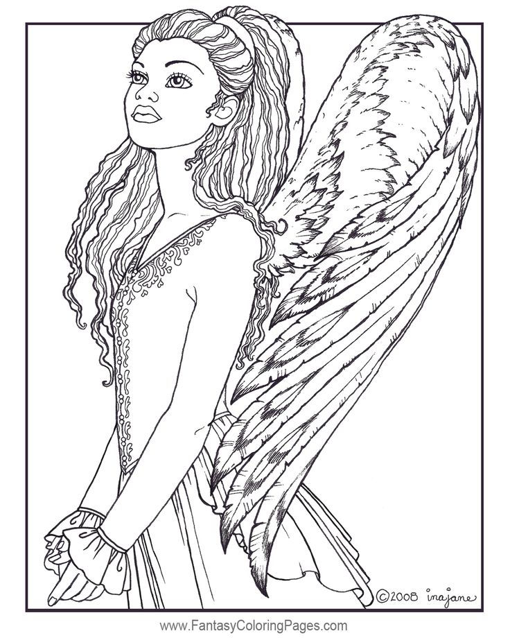 Fantasy Angel Coloring Pages