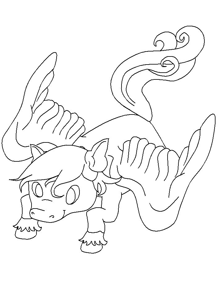 Fantasy Coloring Pages Baby Dragon 001