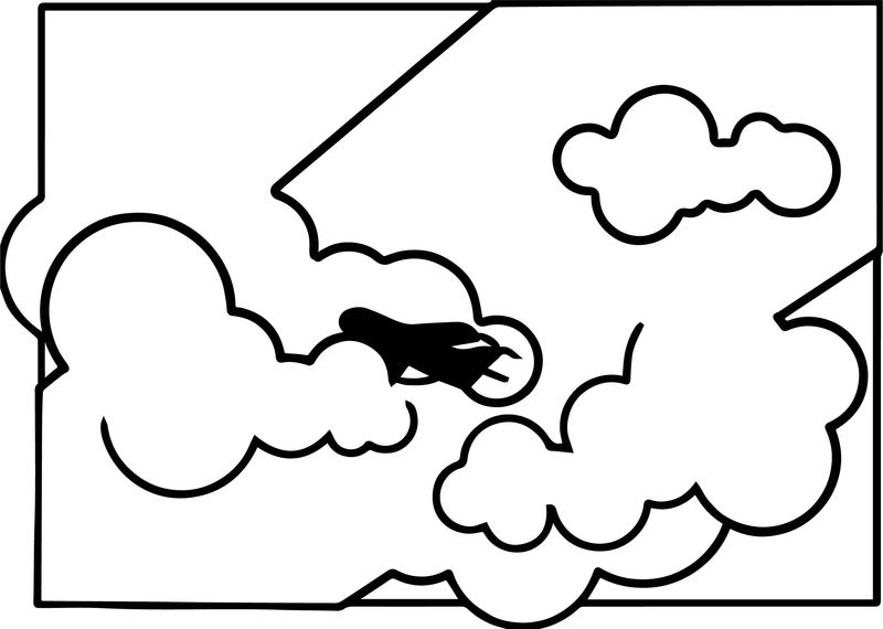 Far Airplane Coloring Page