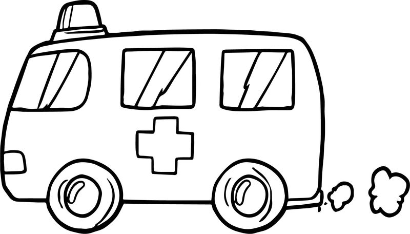 Fast Ambulance Coloring Page