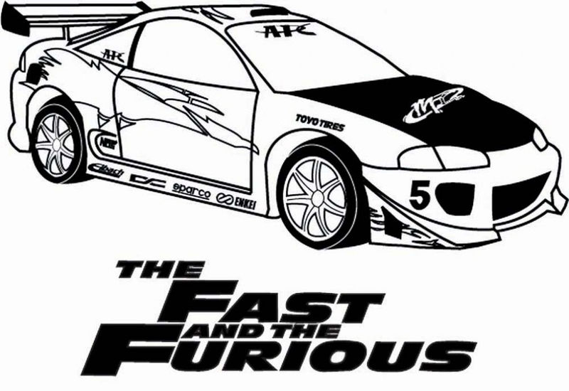 Fast And Furious Coloring Pages Activity