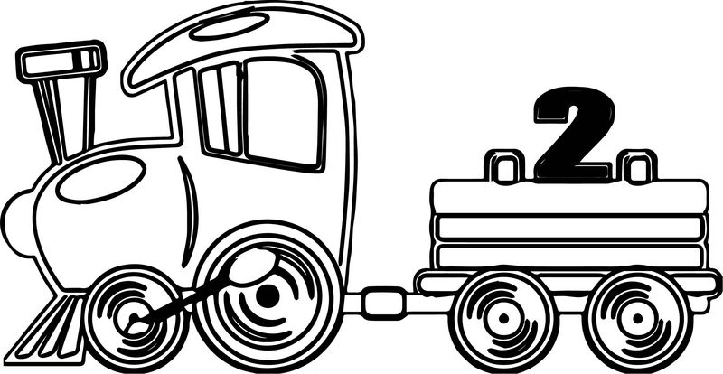 Fast Toy Train Coloring Page