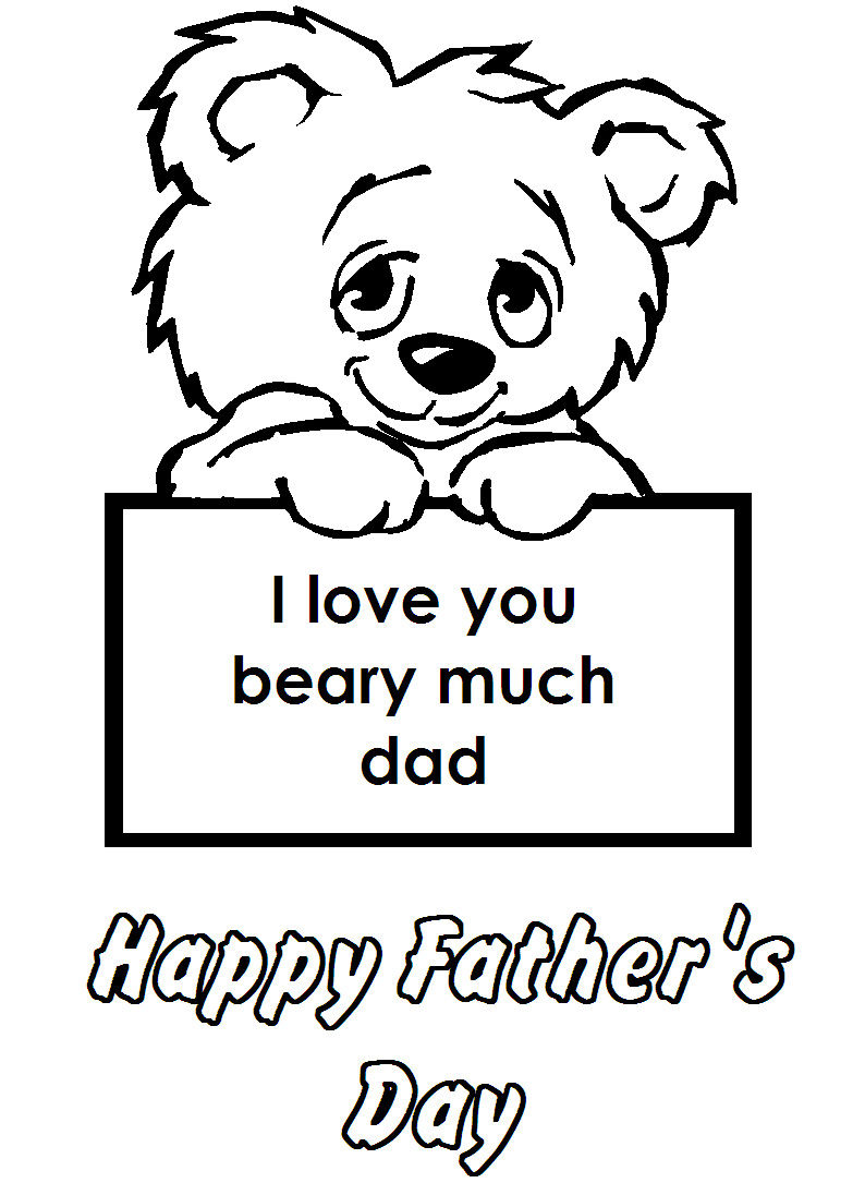 Fathers day coloring pages toddlers